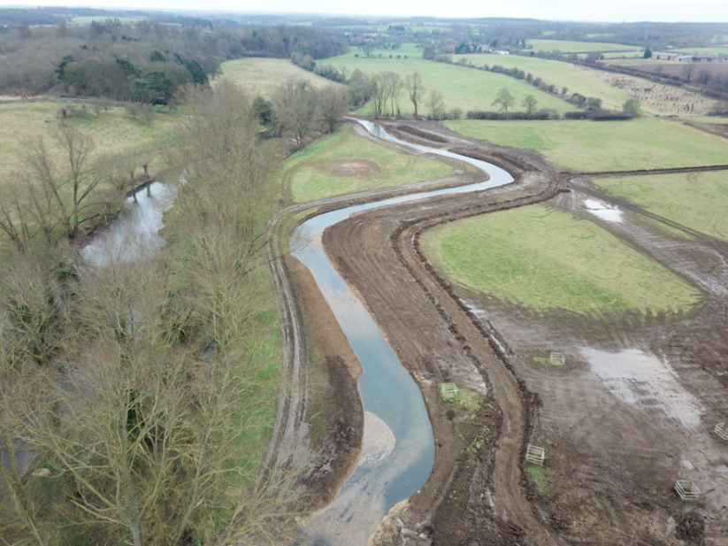 Phase 1 new meander just after completion