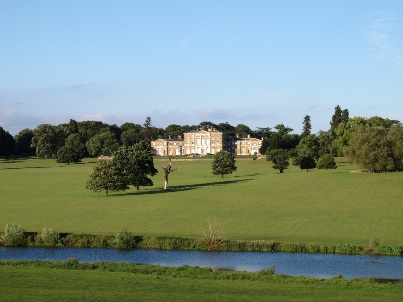 Woodhall Park House with the Broadwater